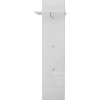 Porte-manteau mural design coloris blanc L. 60 x P. 25 x H. 195 cm collection Wardin