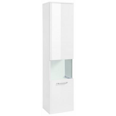 Colonne pour salle de bain avec 1 porte à ouverture gauche coloris blanc L. 40 x P. 34 x H. 165 cm collection Wild