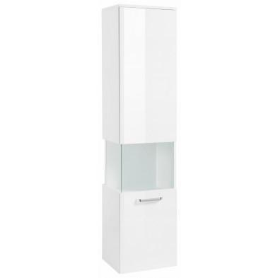 Colonne pour salle de bain avec 1 porte à ouverture droite coloris blanc L. 40 x P. 34 x H. 165 cm collection Wild