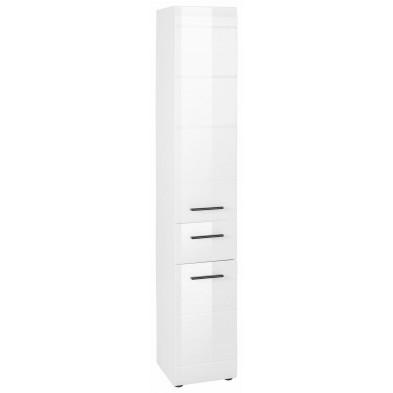 Colonne de rangement pour salle de bain  coloris blanc L. 30 x P. 31 x H. 182 cm collection Zwalm