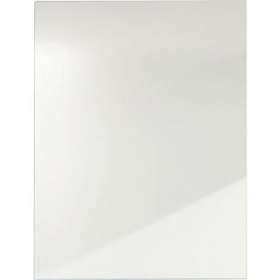 Miroir de salle de bain design coloris blanc L. 67 x P. 3 x H. 51 cm collection Karen