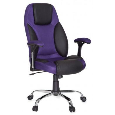 Chaise et fauteuil de bureau violet design en tissu L. 64 x H. 111 - 120 cm x P.57 cm collection Sansadurnino
