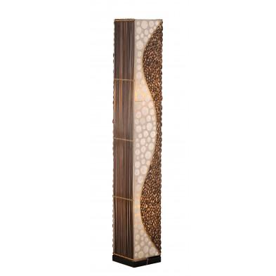 Lampadaire marron L. 20 x H. 150 cm bambou collection Eli