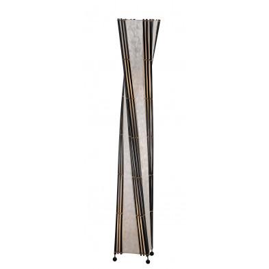 Lampadaire blanc en bambou L. 22 x P. 22 x H. 150 cm collection Eli