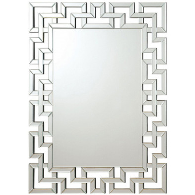 Miroir mural argenté design effet 3D 80 x 120 cm collection Mourad