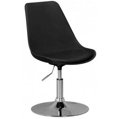 Chaise moderne Noir Design L. 46 x P. 46 x H. 76 - 88 cm collection Covasdecoina