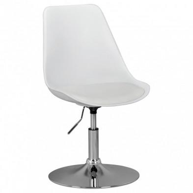 Chaise moderne Blanc Design L. 46 x P. 46 x H. 76 - 88 cm collection Covasdecoina