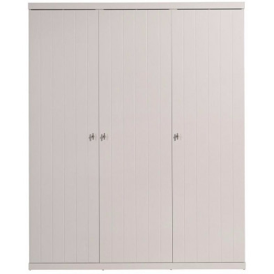 Armoire enfant blanc design en bois mdf L. 166 x P. 57 x H. 204 cm collection Size