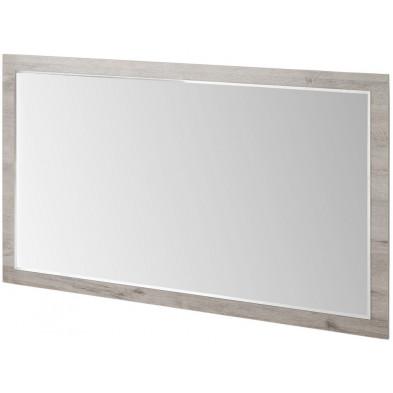 Miroir mural contemporain gris en panneaux de particules mélaminés L. 60 x P. 2 x H. 60 cm Collection Stockingford