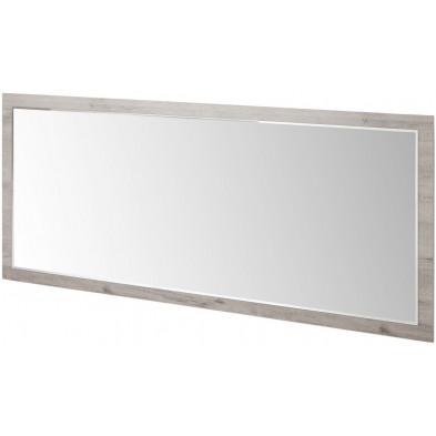 Miroir contemporain marron en bois mdf et panneaux de particules mélaminés L. 160 x P. 2 x H. 91 cm Collection Salazar