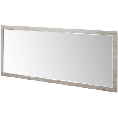 Miroir contemporain marron en bois mdf et panneaux de particules mélaminés L. 209 x P. 2 x H. 91 cm Collection Salazar