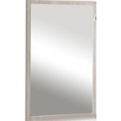 Miroir contemporain marron en bois mdf et panneaux de particules mélaminés L. 67.5 x P. 2 x H. 97.5 cm Collection Salazar