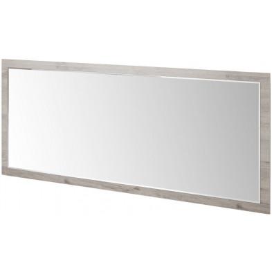 Miroir contemporain blanc en panneaux de particules mélaminés L. 209 x P. 2 x H. 91 cm Collection Vanharmelen