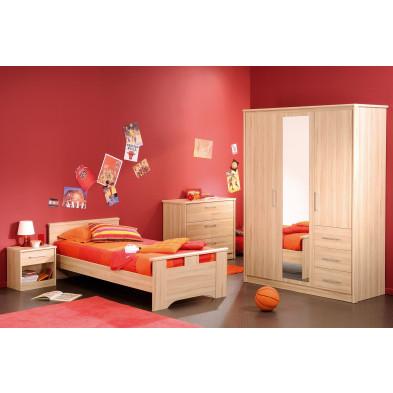 Chambre enfant complète contemporaine marron Collection Hertz