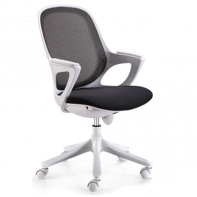 Chaise et fauteuil de bureau noir design L. 60 x P. 60 x H. 93 - 103 cm collection Cisternino