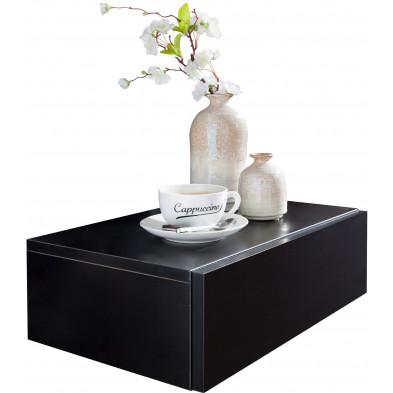Chevet - table de nuit noir design en acier L. 46 x P. 30 x H. 15 cm collection Maresca