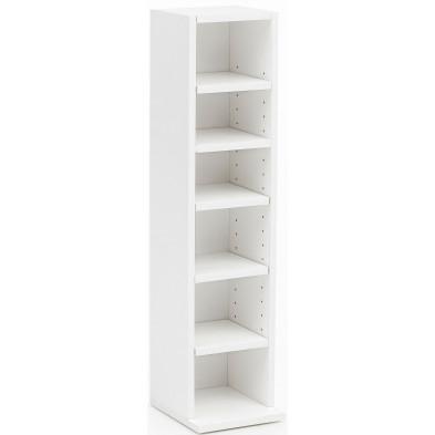 Commode et bibliothèque blanc design en panneaux de particules mélaminés de haute qualité L. 21 x P. 20 x H. 91 cm collection Haaksma