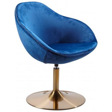 Fauteuil moderne bleu design en acier L. 70 x P. 70 x H. 79 cm collection Sarrazola