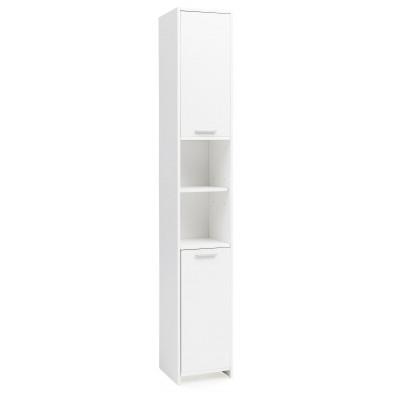 Colonnes blanc design en panneaux de particules mélaminés de haute qualité L. 30 x P. 30 x H. 19 cm collection Alley