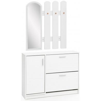 Vestiaires blanc design en panneaux de particules mélaminés de haute qualité collection Cicilia