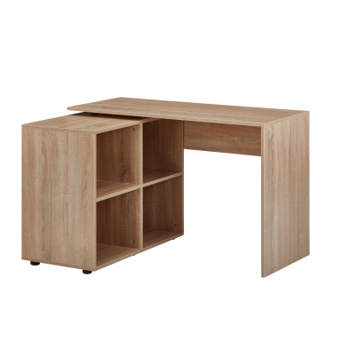 Bureau d'angle taupe design en bois mdf  L. 117 x P. 88 x H. 75,5 cm  collection Munday