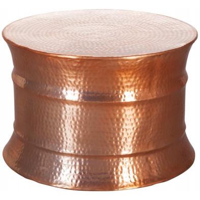 Table basse or design en aluminium L. 62 x P. 62 x H. 41 cm collection Grice