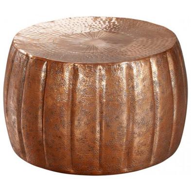 Table basse or design en aluminium L. 60 x P. 60 x H. 36 cm collection Gobenheim