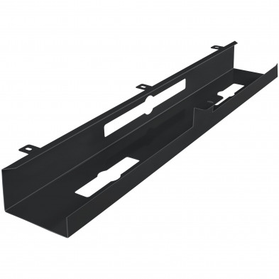 Gaine de câble pour bureaux Noir design en acier L. 80 x P. 13 x H. 7 cm collection Celles