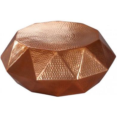 Table basse or design en aluminium L. 73 x P. 73 x H. 28.5 cm collection Salas