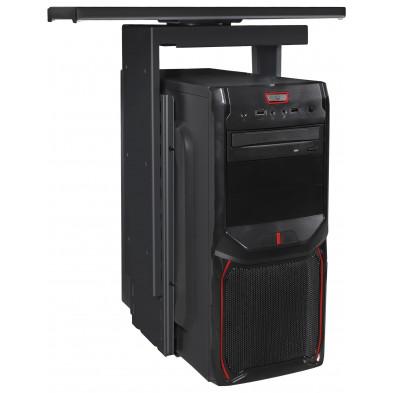 Support PC Noir réglable hauteur L. 11 - 24 x P. 15 x H. 46 - 68 cm collection Clashmore