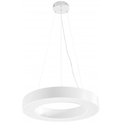 Suspension blanc design en acier L. 60 x P. 60 x H. 105 cm collection Meeting