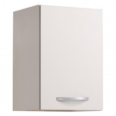 Meubles haut moderne blanc en panneaux de particules mélaminés de haute qualité L. 40 x P. 36 x H. 58 cm Collection Cappadocia