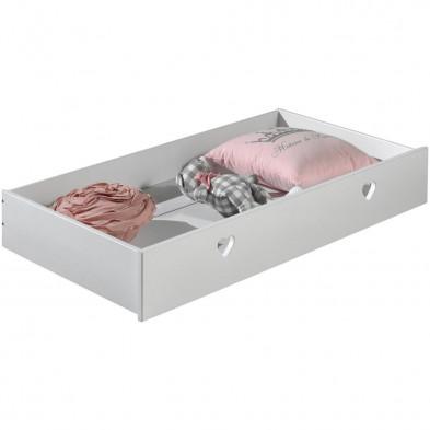 Commode et table à langer blanc romantique en bois mdf collection Herveld
