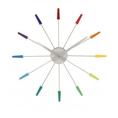 Horloge murale multicouleur design en acier collection Bodiolomnago