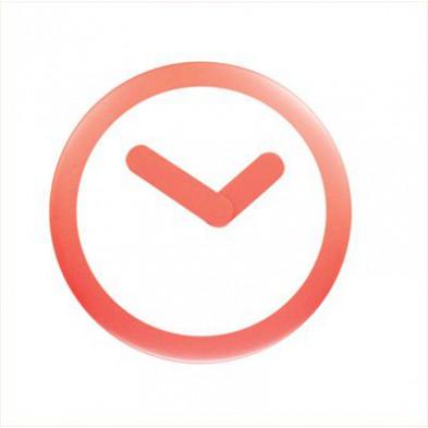 Horloge murale rouge en abs collection Bergeijk