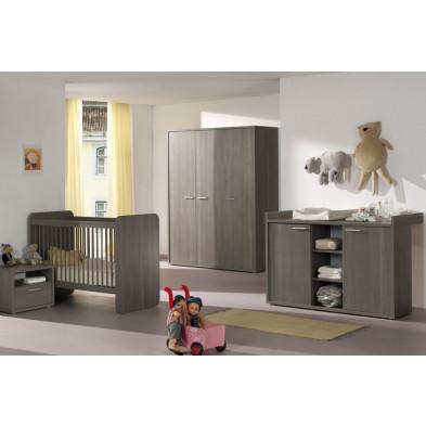 Chambre bébé complète gris contemporain en panneaux de particules collection Kullstedt