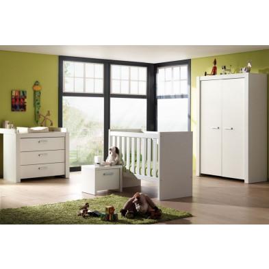 Chambre bébé complète blanc contemporain collection Tongha