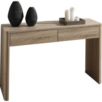 Bureau design marron contemporain en bois mdf L. 120 x P. 40 x H. 75 cm  collection Shun