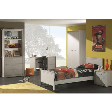 Chambre enfant complète gris contemporain en panneaux de particule de haute qualité collection Panicucci