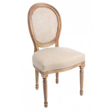 Chaise baroque Beige en Bois massif 50 cm de largeur collection Baghasdal