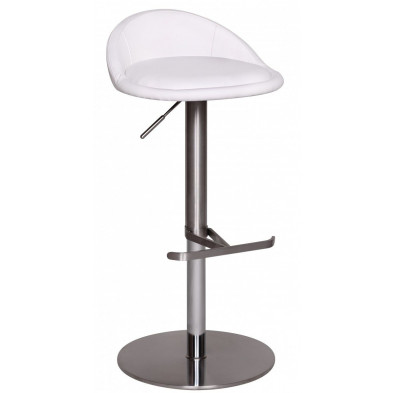 Tabouret de bar blanc design en pvc 46 cm de largeur L. 46 x P. 26 x H. 50 cm collection Salone