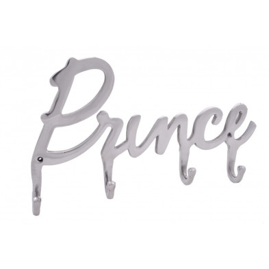 Porte-manteaux argenté à 4 crochets design Prince en collection Otmar
