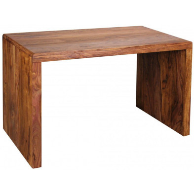 Bureau marron contemporain en bois massif L. 120 x P. 60 x H. 76 cm collection Aller