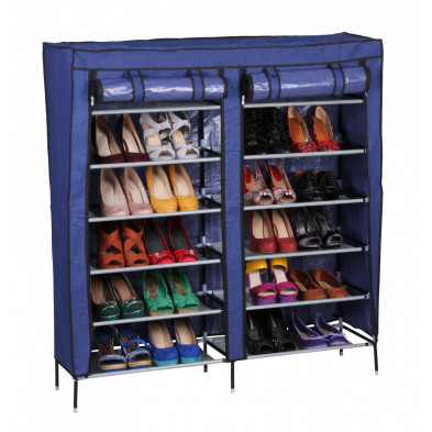 Meubles chaussures bleu design L. 110 x P. 30 x H. 118 cm collection Pontedeva