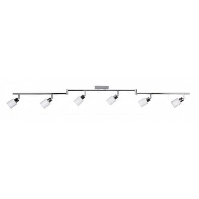 Suspension blanc design en acier chromé L. 150 x P. 6 x H. 16 cm collection Koorn