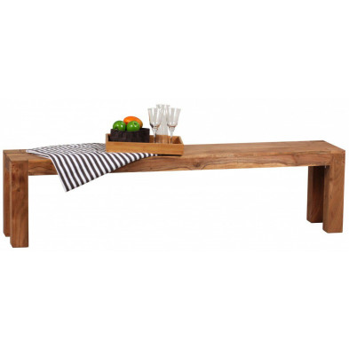 Bancs & banquettes de salle à manger marron contemporain en bois massif L. 180 x P. 35 x H. 45 cm collection Army