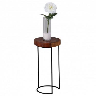 Table d'appoint marron contemporain L. 28 x P. 28 x H. 55 cm collection C-Tilly