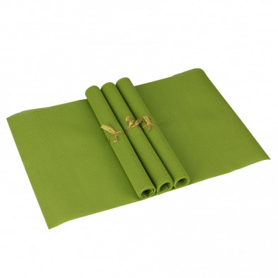 Lot de 4 Textile de table et de cuisine vert moderne en pvc L. 45 x P. 30 cm collection Traffordpark