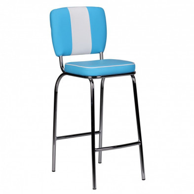 Tabouret de bar blanc design en pvc L. 40 x P. 40 x H. 110 cm collection Cower