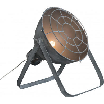 Lampadaire gris industriel en acier  L. 35 x P. 35 x H. 50 cm collection Zaventem